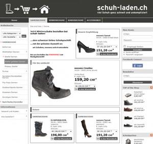 Schuh-Laden.ch: Damenschuhe, Herrenschuhe, Kinderschuhe