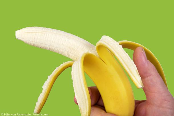 Optimale Verpackung: Beispiel aus der Natur, die Banananschale