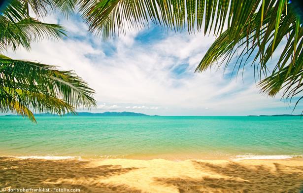 Koh Samui in Thailand: das ganze Jahr über schönes Wetter mit maximalen Temperaturen um die 30 °C