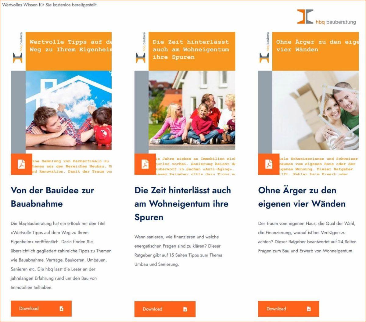 Kostenlose Bauratgeber PDF
