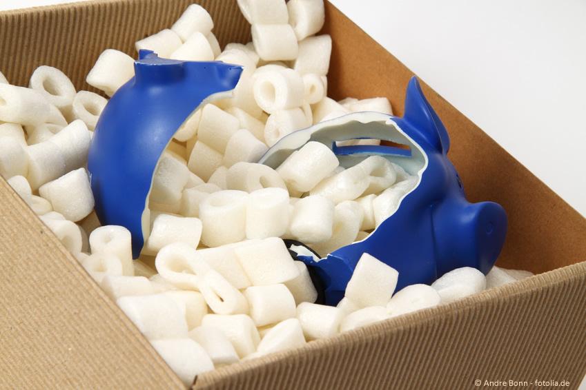 Verpackung: Aussen fix und innen defekt ...