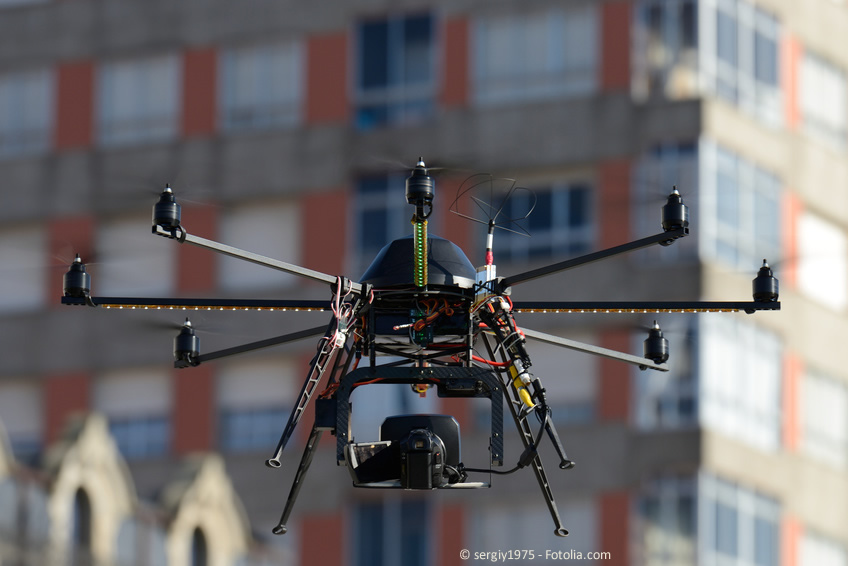 Drohnen im Einsatz: Luftbilder in geregelten Verhältnissen.