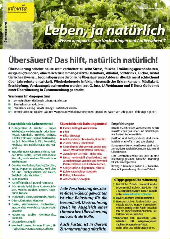 Gerstengraspulver gegen Übersäuerung - PDF
